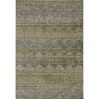 Arrakis Sea/ Taupe Rug (5'2 x 7'7)
