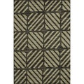 Arrakis Charcoal/ Green Rug (7&#39;7 x 10&#39;5)