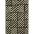 Arrakis Charcoal/ Green Rug (5'2 x 7'7)
