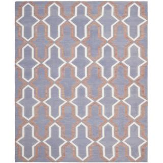 Safavieh Hand-woven Moroccan Reversible Dhurrie Purple Wool Rug