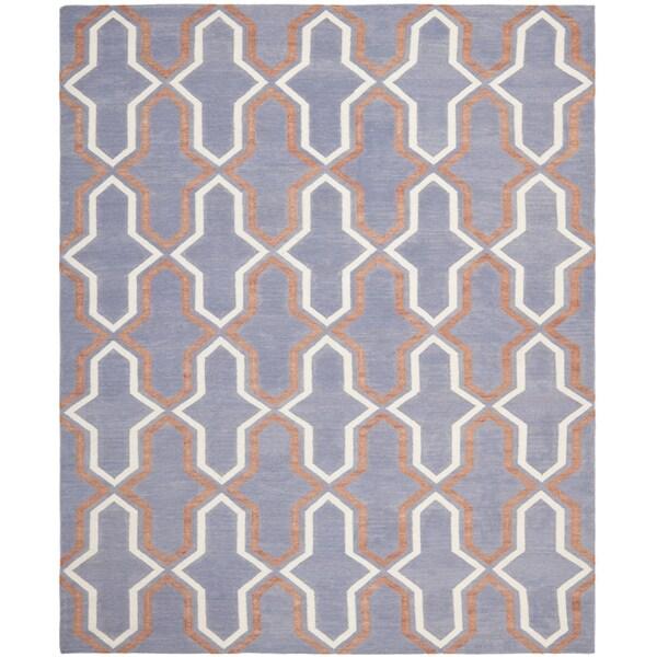 Safavieh Hand-woven Moroccan Reversible Dhurrie Purple