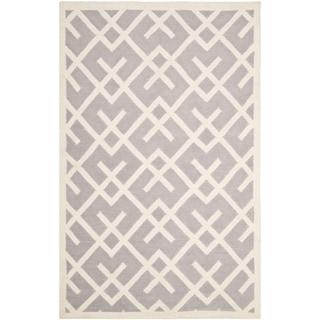 Safavieh Hand-woven Moroccan Dhurrie Grey Wool Rug (9' x 12')