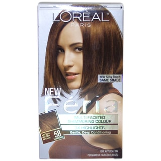 L'Oreal Feria Medium Golden Brown Multi-Faceted Shimmering Permanent Hair Color