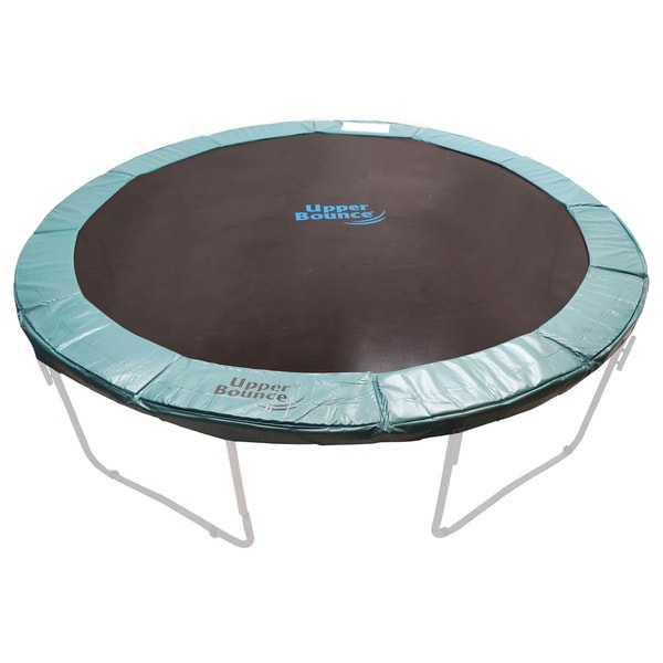 10 12 14ft Round Safety Frame Blue Pad Spring Pad: 14-foot Round Green Super Trampoline Safety Pad