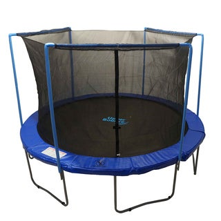 15-foot Round Trampoline Enclosure Safety Net for 3 Arches with Sleeves on Top