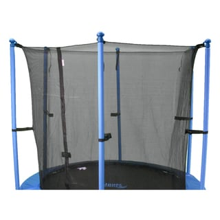 14-foot Round Trampoline Enclosure Safety Net for 8 Poles or 4 Arches