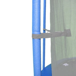 44-inch Blue Trampoline Pole Foam Sleeves for 1.5-inch Diameter Pole (Set of 16)