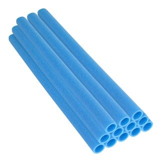 44-inch Blue Trampoline Pole Foam Sleeves for 1.5-inch Diameter Pole (Set of 12)