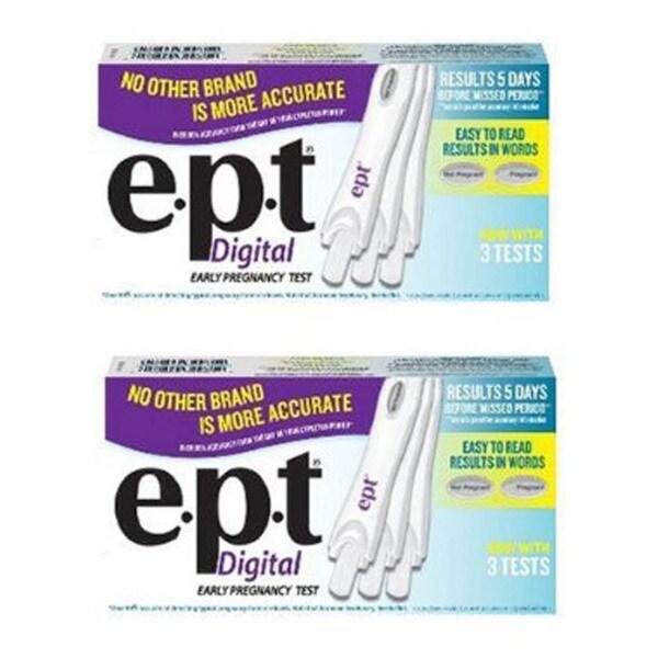 E.P.T. 3-pack Digital Pregnancy Test (Pack of 2)