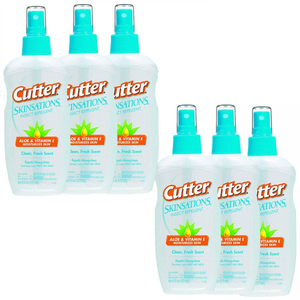 Cutter Skinsations 6-ounce Insect Repellent Spray (Pack of 6)