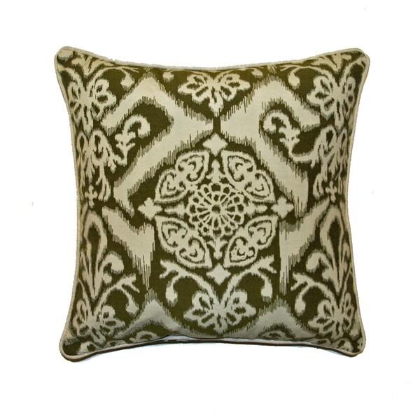 JAR Designs 'Ikat Green' Throw Pillow