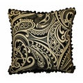 JAR Designs 'Paisley Black' Throw Pillow