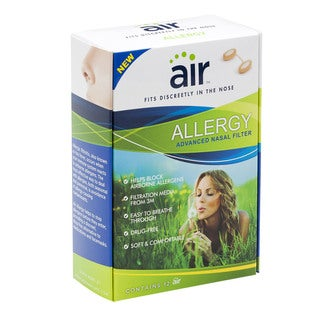 Air Allergy Relief/ Sinus Symptom Advanced Nasal Filter w/ Filtration Media (Pack of 12)
