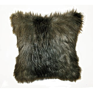 JAR Designs 'Silver Feather Fur' Throw Pillow