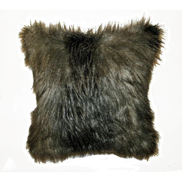 JAR Designs 'Silver Feather Fur' Throw Pillow
