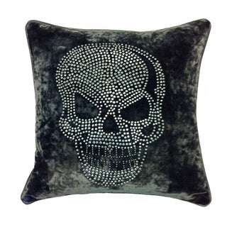 JAR Designs 'Large Skull-Grey' Throw Pillow