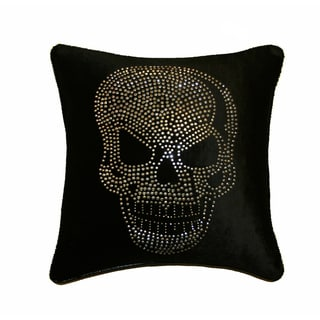 JAR Designs 'Large Skull-Black' Throw Pillow