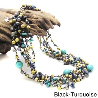 Cluster Paradise Multistone Layered Necklace (Thailand)