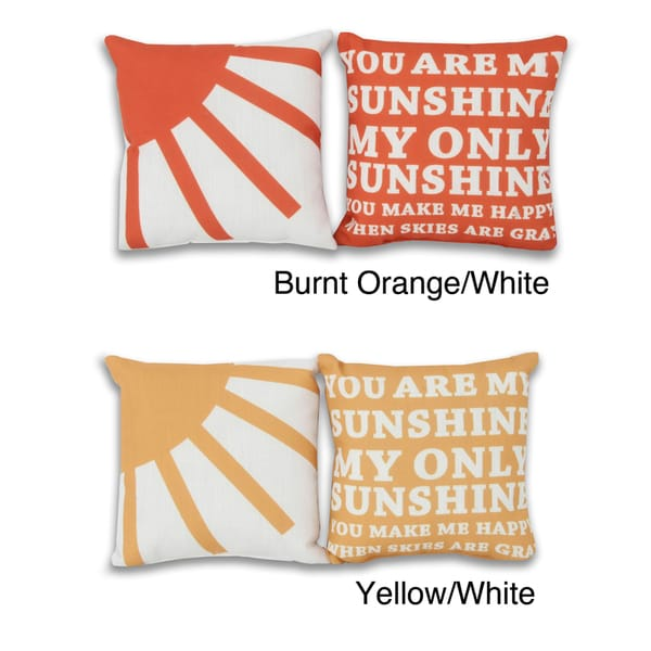 You Are My Sunshine 8x8-inch 2-piece Pillow Set