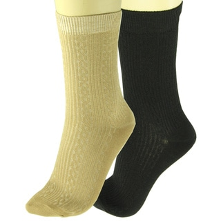 Sporto Women's Bamboo Crew Socks (Pack of 4)