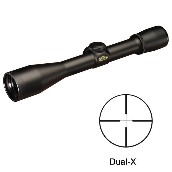 Weaver Classic K Series 4x38mm Dual-X Reticle Rifle Scope