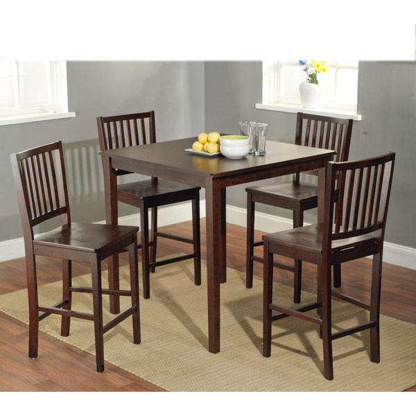 simple living shaker counter height 5 piece dining set 14952128