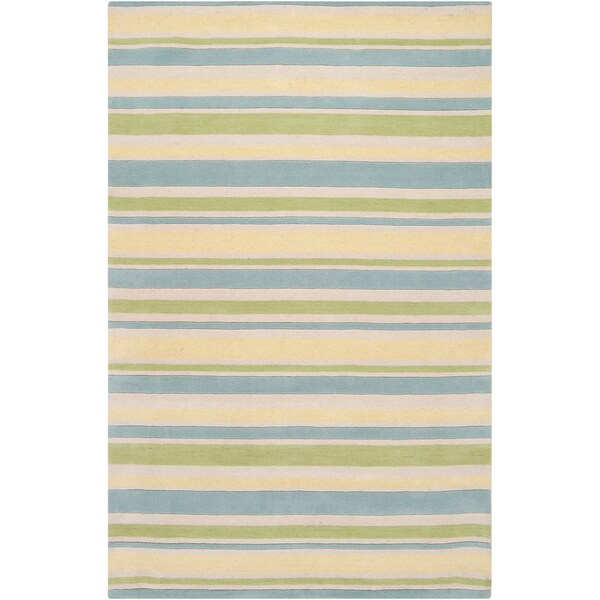 Somerset Bay Loomed Clermont Striped Plush Wool Rug