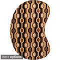 Hand-tufted Westfield Brown Geometric Wool Rug