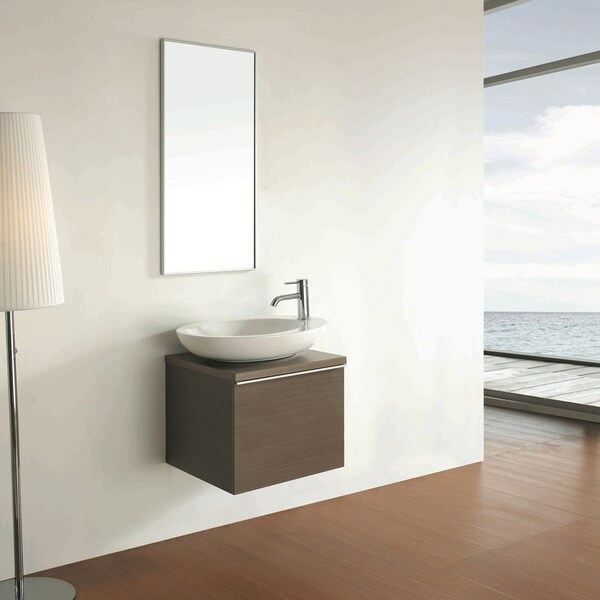 Bellaterra Home 22-inch Single Bathroom Wood Vanity with Mirror