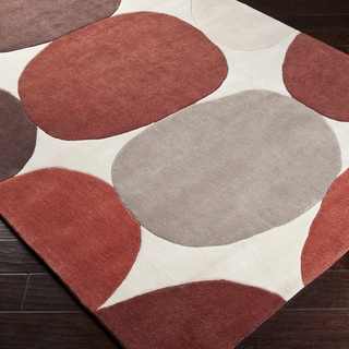 Hand-tufted Burnt Sienna Pilot Geometric Rug