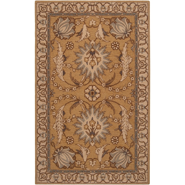 Floral Hand-tufted Post Wool Rug