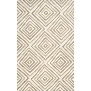 Hand-tufted Dixon Geometric Diamond Wool Rug