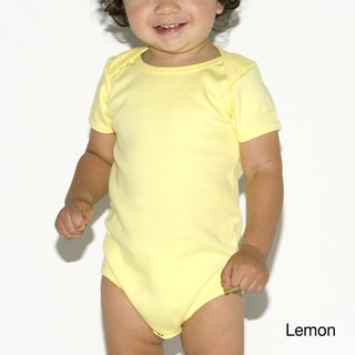 American Apparel Baby Interlock Short-sleeve 1-piece