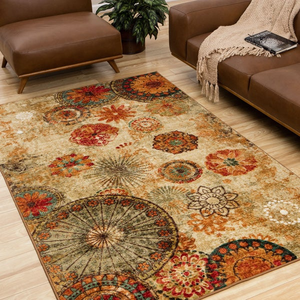 Mohawk Home Caravan Medallion Area Rug (8' x 10')