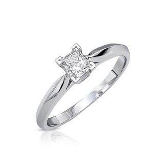 14k Gold 3/8ct TDW Certified Diamond Solitaire Engagement Ring (G-H, SI3)
