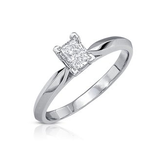 14k Gold 1/2ct TDW Certified Diamond Engagement Ring (J-K, VS1-VS2)