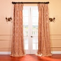 Genevieve Warm Taupe Faux Silk Jacquard French Pleated Curtains