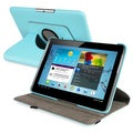 BasAcc Turquoise Swivel Case for Samsung Galaxy Tab 2 P5100/P5110/10.1-inch