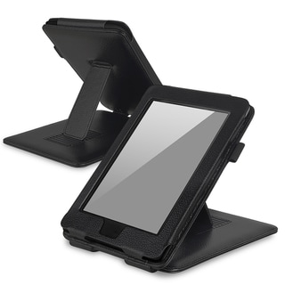 BasAcc Black Leather Case with Stand for Amazon Kindle Paperwhite