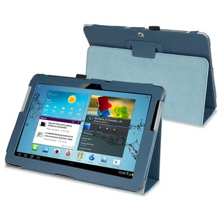 BasAcc Blue Leather Case for Samsung Galaxy Tab 2 P5100/P5110/10.1-Inch