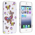 BasAcc White/ Butterfly Snap-on Rubber Coated Case for Apple� iPhone 5