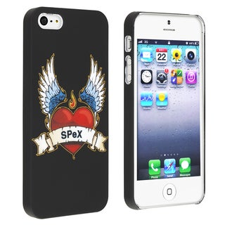 INSTEN Eagle/ Badge Snap-on Rubber Coated Phone Case Cover for Apple iPhone 5