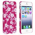 BasAcc Pink/ White Snap-on Rubber Coated Case for Apple� iPhone 5
