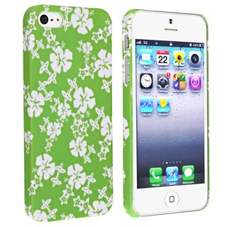BasAcc Green/ White Snap-on Rubber Coated Case for Apple� iPhone 5
