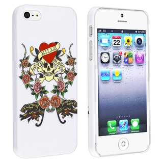 BasAcc White/ Colorful Snap-on Rubber Coated Case for Apple� iPhone 5