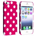 BasAcc Hot Pink with White Dot Snap-on Case for Apple� iPhone 5