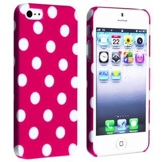 BasAcc Hot Pink with White Dot Snap-on Case for Apple� iPhone 5/ 5S