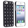 BasAcc Black Criss Cross Rubber Coated Case for Apple� iPhone 5