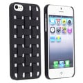 BasAcc Black Criss Cross Rubber Coated Case for Apple iPhone 5