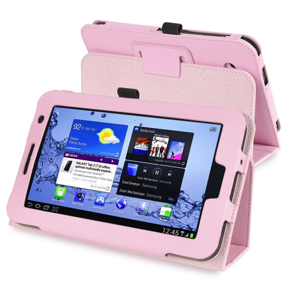 INSTEN Pink Leather Tablet Case Cover for Samsung Galaxy Tab 2/ P3100/ P3110/ P3113